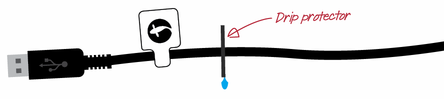 seneye device uses a washer to stop drips.PNG