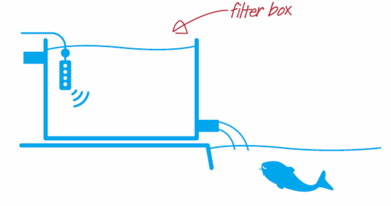 Seneye in pond filter box like nexus.PNG